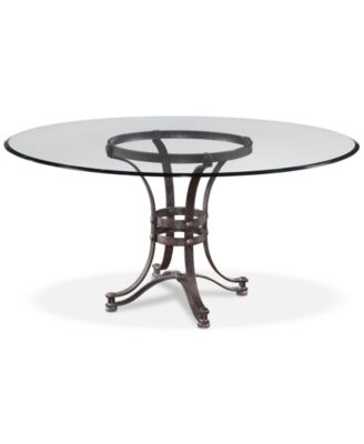 Good Caspian Round Metal Dining Table 60