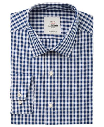 Ben Sherman Men's Slim-Fit Royal Dobby Check Dress Shirt