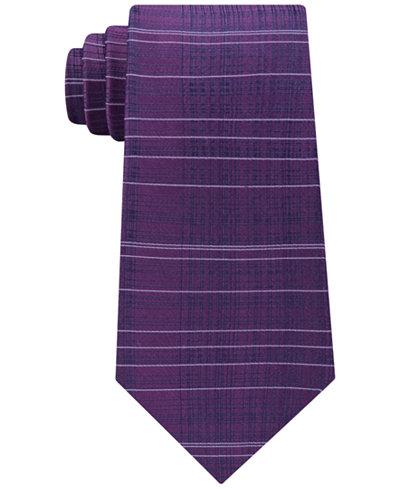 Calvin Klein Men's Hi-Low Plaid Silk Tie