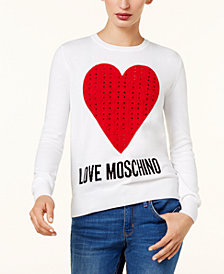 Love Moschino Cotton Perforated Sweater