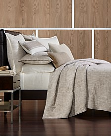Pebble Diamond Embroidered Coverlet & Sham Collection, Created for Macy's