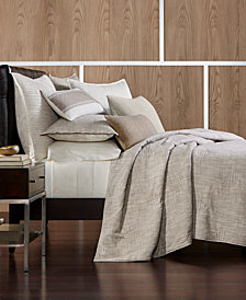 Hotel Collection Pebble Diamond Embroidered Coverlet & Sham Collection, Created for Macy's