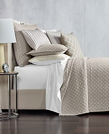 Diamond Embroidered Coverlet & Sham Collection, Created for Macy's