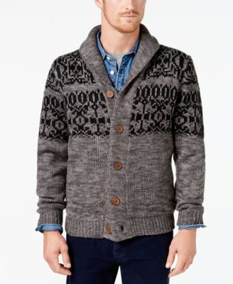 Weatherproof Vintage Men's Fair Isle Cardigan - Sweaters - Men ...