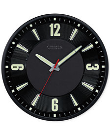 Citizen Gallery Black Metal Wall Clock