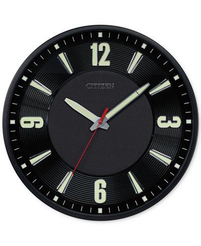 Citizen Gallery Black Metal Wall Clock