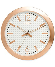 Gallery Rose Gold-Tone Wall Clock