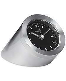 Citizen Workplace Silver-Tone Metal Cylindrical Clock