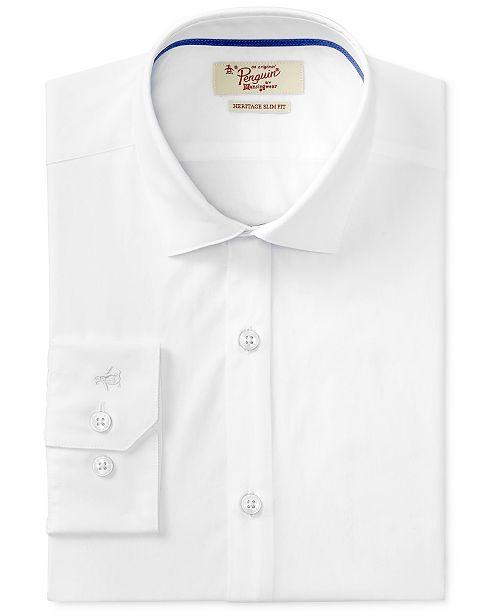 Original Penguin Men's Slim-Fit Stretch Dress Shirt