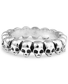 King Baby Men's Skull Ring in Sterling Silver