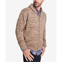 Weatherproof Vintage Men's Shawl-Collar Cardigan (Light Brown or Navy)