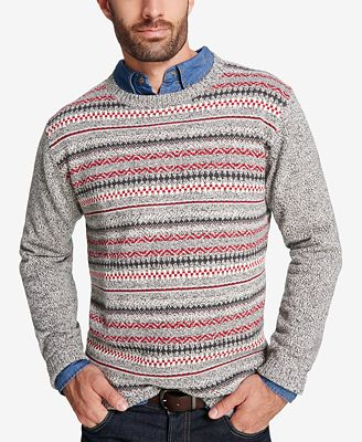 Weatherproof Vintage Men's Fair Isle Sweater - Sweaters - Men - Macy's