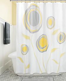 "Interdesign Botanical Marigold 72"" x 72"" Shower Curtain"