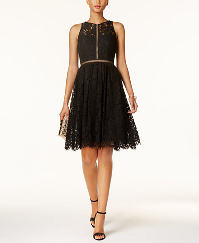 Adrianna Papell Lace Flare Dress