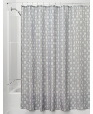 Interdesign Seahorse FauxLinen 72 x 72 Shower Curtain Bedding