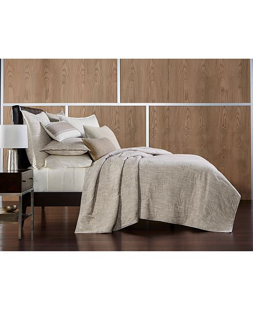 Hotel Collection Pebble Diamond Embroidered King Coverlet