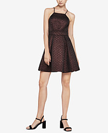 BCBGeneration Metallic Fit & Flare Dress