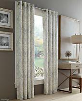 J Queen New York Roosevelt Grommet Curtain Panel Collection