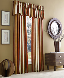 J Queen New York Valdosta Cotton Stripe Window Treatment Collection