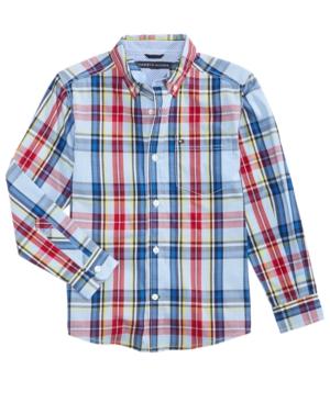 Tommy Hilfiger Andy Plaid Cotton Shirt Little Boys (47)
