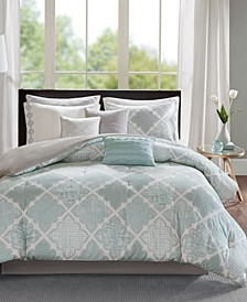 Cadence 9-Pc. Cotton Queen Comforter Set
