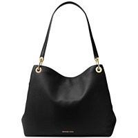 MICHAEL Michael Kors Raven Black Leather XL Shoulder Bag Tote