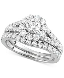 Halo Bridal Set (2 ct. t.w.) in 14k White Gold
