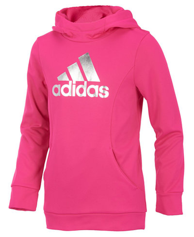 adidas Performance Pullover Hoodie, Little Girls (4-6X) - Sweaters ...