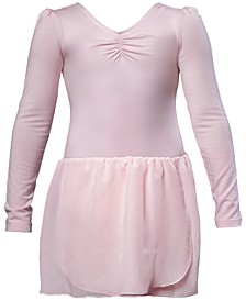 Long-Sleeve Skirted Leotard, Little Girls & Big Girls