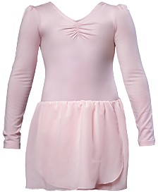 Flo Dancewear Long-Sleeve Skirted Leotard, Little Girls & Big Girls