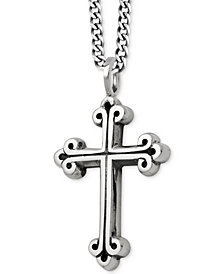 King Baby Men's Cross Pendant Necklace in Sterling Silver