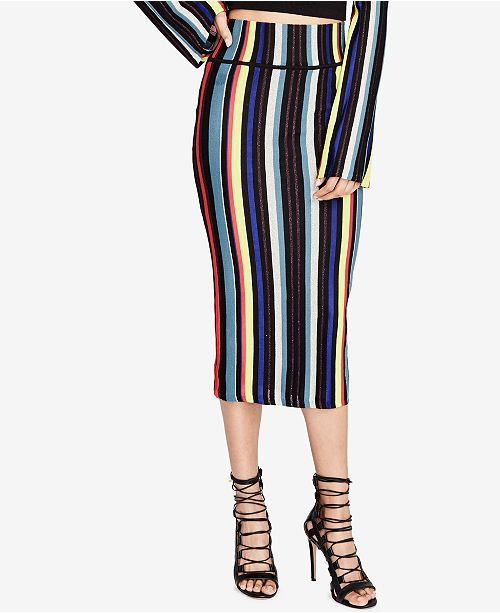 a6fd2c6397 RACHEL Rachel Roy Striped Pencil Skirt & Reviews - Skirts - Women ...