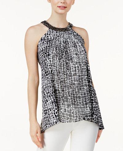 Alfani Embellished Sleeveless Top, Created For Macy's