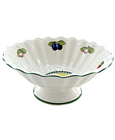 Villeroy & Boch Dinnerware, French Garden Footed Fruit Bowl
