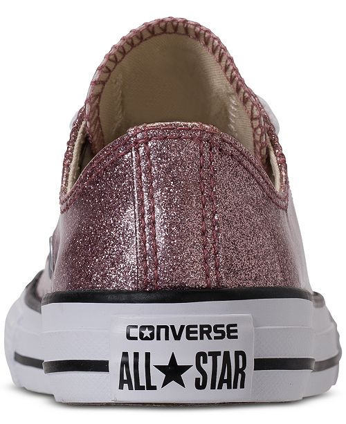 9db9f76f1756 ... Converse Little Girls  Chuck Taylor All Star Ox Glitter Casual Sneakers  from Finish ...