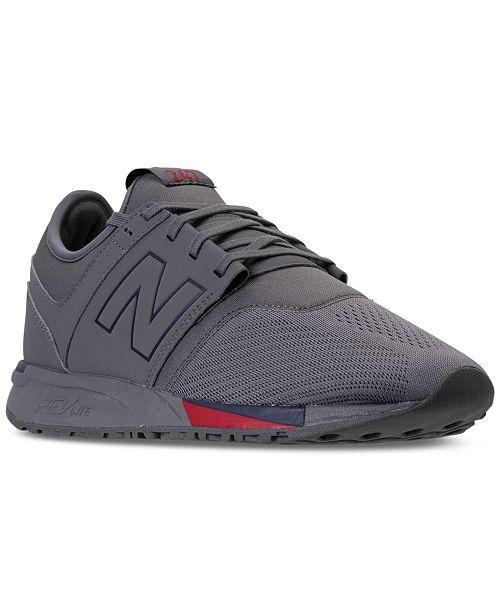 Verkauf Einzelhändler vollständige Palette von Spezifikationen Top Design New Balance Men's 247 Synthetic Casual Sneakers from Finish ...