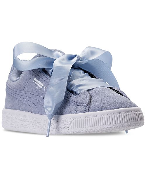 Puma Little Girls  Suede Heart Casual Sneakers from Finish Line ... 599d498bc