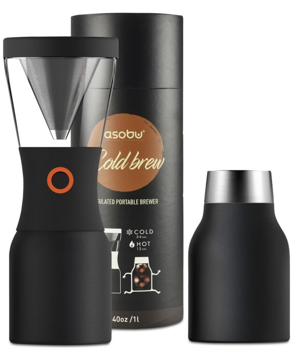 Asobu Cold Brew Coffee Maker, Black