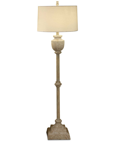 Crestview Avalon Carved Wood Floor Lamp