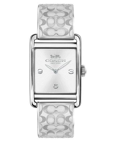 COACH Women's Renwick Stainless Steel Bangle Bracelet Watch 25x35mm