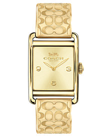COACH Women's Renwick Gold-Tone Bangle Bracelet Watch 25x35mm