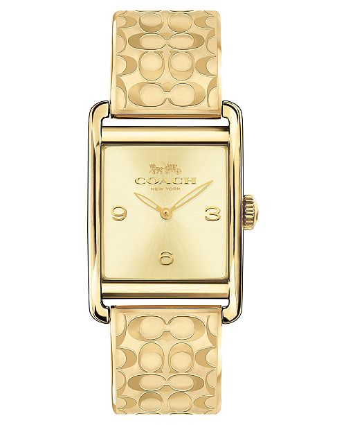 COACH Women's Renwick Gold-Tone Bangle Bracelet Watch 25x35mm