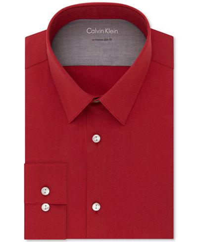 Calvin Klein X Men's Extra-Slim Fit Stretch Performance Non-Iron Dress Shirt