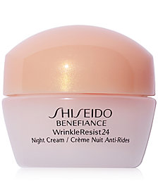 FREE deluxe Benefiance night moisturizer with $65 Shiseido purchase