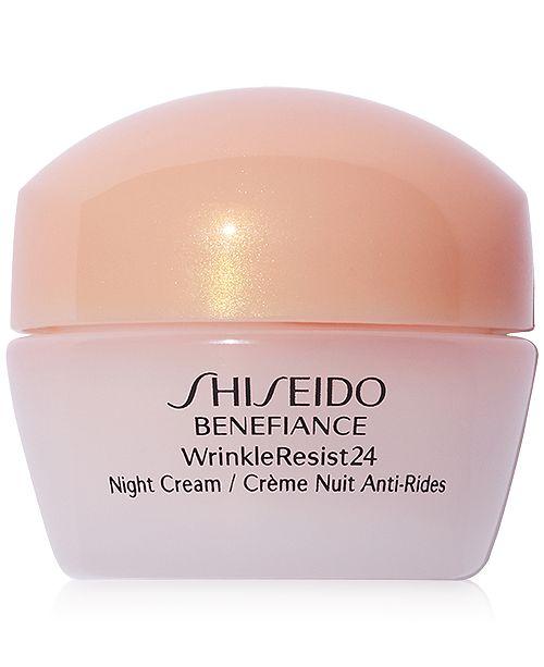 730833bb34d Shiseido FREE deluxe Benefiance night moisturizer with $75 Shiseido ...