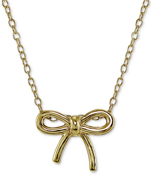 Giani bernini bow pendant necklace in 18k gold plated sterling main image main image aloadofball Images