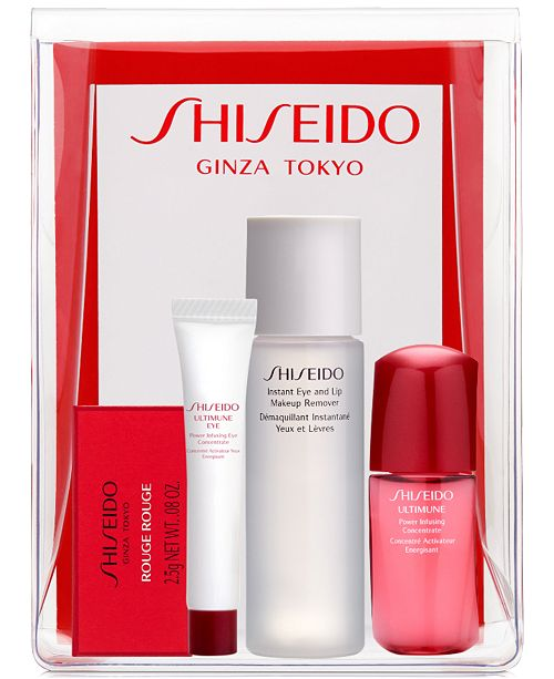 Receive a FREE 5-Pc. gift with any $40 Shiseido purchase, Created for Macy's - a $69 value!