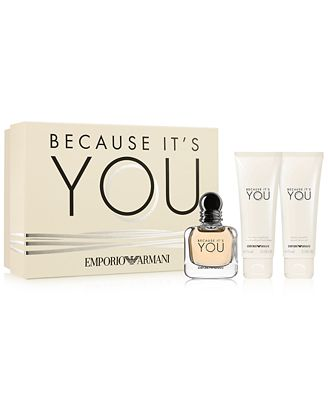Emporio Armani 3 Pc Because It S You Gift Set Fragrance