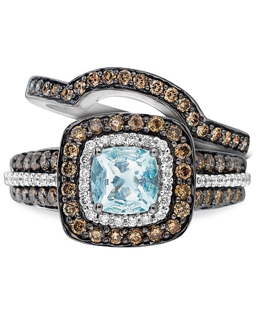 b3d821b5c Le Vian Aquamarine (3/4 ct. t.w.) and Chocolate Diamonds® (3/4 ct ...