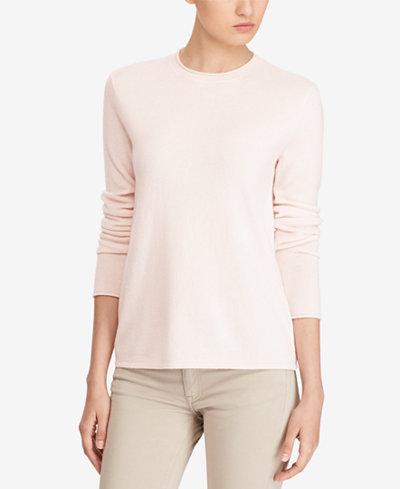 Polo Ralph Lauren Roll-Neck Cashmere Sweater - Sweaters - Women ...